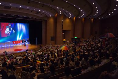 TEDxKyoto stage, Sep. 2013
