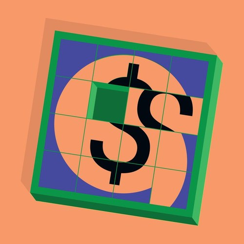 Dollar puzzle sign