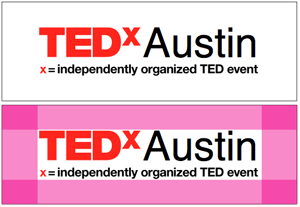 TEDx logo clear space