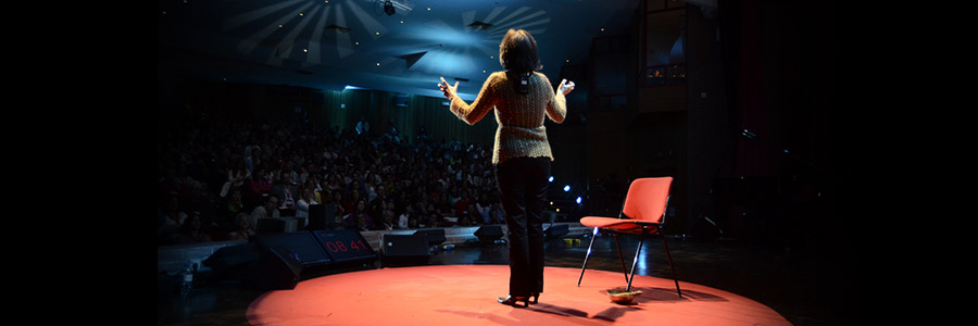 TEDx Talk - speaker on stage